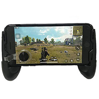 Mobile Gamepad Controller Grip Case Handle Joystick with Metallic Trigger Button for Android iOS Phones (By Divyamet)