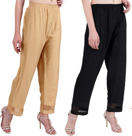 RMG Fashion presents Black and Beige Stylish  comfortable Plazo Pants