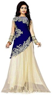 Designer Blue And Beige Colour Velvet Material Wedding And Festival Wear Lehenga choli For Women And Girls(Joyavelvet)