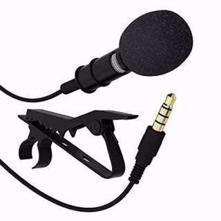 Clip Collar Mic Condenser For Youtube Video Recording  Interviews  News  Travel Videos Mike for Mobile(By Divyamet)