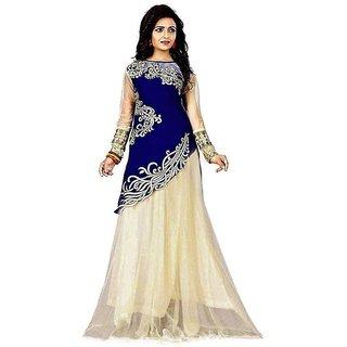 Designer Blue And Beige Colour Velvet Material Wedding And Festival Wear Lehenga choli For Women And Girls(Joyavelvet)