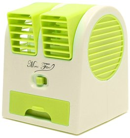 Mini Small Fan Cooling Portable Desktop Dual Bladeless water Air Cooler USB