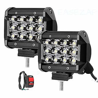 the one custom 12 LED Fog Light/Work Light Bar Spot Beam Off Road Driving Lamp 36W Cree -Universal Fitting Good Fit on All Bike suitable for  ALL BIKES /CAR/SCOOTY AND TRUCK