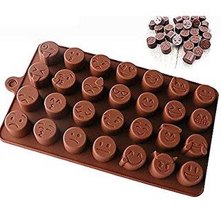 Emoji Chocolate Mould (Silicon 28 Cavity)