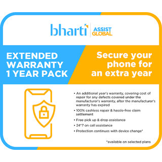 Bharti Assist Secure 1 Year Extended Warranty for Mobile Between Rs. 10001 to Rs. 15000