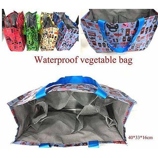 Homeeware Eco Friendly Vegetable Waterproof Multi Purpose Shopping Bag with Multi Functional Pockets for Purchase Vegeta