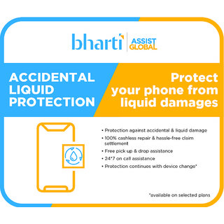 Bharti Assist Protect 1 Year Accidental  Liquid Damage Protection Plan for iPhone Between Rs. 40001 to Rs. 70000