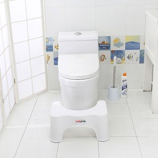 Healthgenie Toilet Stool to Suit Indian Specifications for Western Toilet - 21 cm