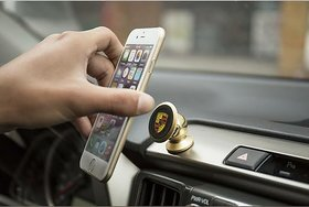 PREMIUM E COMMERCE 360 Rotation Mini Car Mobile Phone Holder Magnetic Bracket - Multi- Color