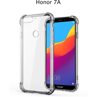 competitive price f782a 0c9a9 Honor 7A - Anti-Knock Design Shock Absorbent Bumper Corners Soft Silicone  Transparent Back Cover - Honor 7A