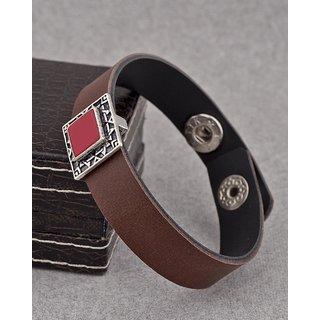 Dare by Voylla Brown & Red Milestone Bracelet