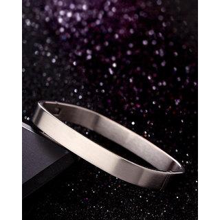 Dare by Voylla Royal Steel Men's Square Bracelet