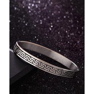 Dare by Voylla Royal Steel Looping Pattern Bracelet