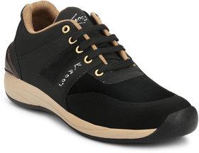 Knoos Men Black Lace-up Smart Casual Shoe