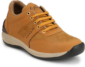 Knoos Men Tan Lace-up Casual Shoes