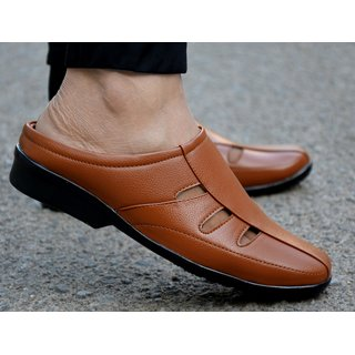 MR Cobbler Men Tan Slip on Sandals