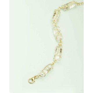 Voylla Crystaline Gold Linked Bracelet