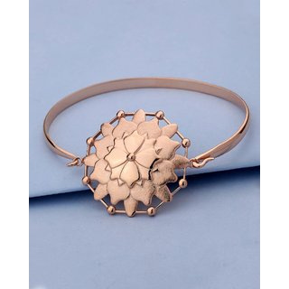 Voylla Rose Gold Cuff Bracelet Inspired By Yoga Collection