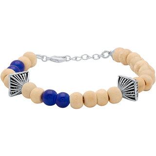 Dare by Voylla Tulsi Beaded Bracelet For Men