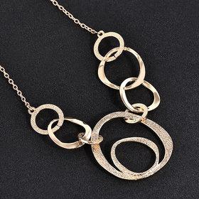 Foreign Fashion-Elegant Crystal Necklace Jewelry Statement Bib Pendant Charm Chain Choker Chunky