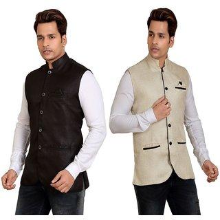 TrustedSnap Men's Nehru Jacket (set of 2)