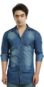 Kandy Men's Casual Denim Light Blue Shirt