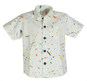 Kiddie Klub Boys Cotton White Shirt
