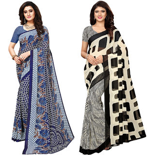 Swaron Georgette Printed Saree Combo Pack Of 2