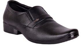 Mr Cobbler Men Black Synthetic Formal Shoes