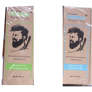 Gabbar Beard Oil With Mix Oil 60ml. Set Of 02