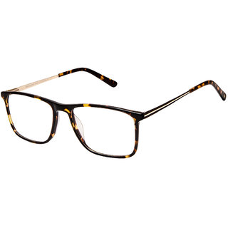 David Blake Tortoise Brown Rectangular Full Rim EyeFrame