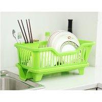 Tagve Plastic Washing Holder Basket Rack Storage Kitchen Wash Dry Shelf Cutlery Drainer Sink Dish Bowl Rack (Multicolor)