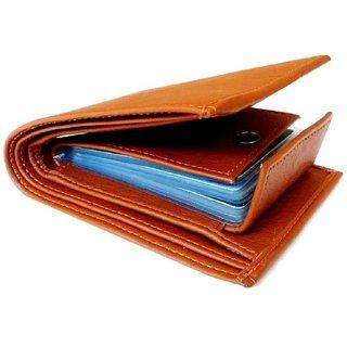 Men Tan Artificial leatehr Wallet