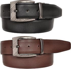 Eysom Reversible Genuine-Leather Formal Belt for Men ( Color-Black/Brown )