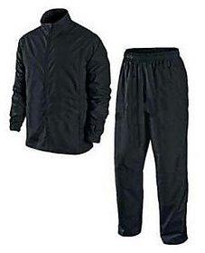 Benjoy Unisex Black Plain Water Proof Rain Suit With Hood
