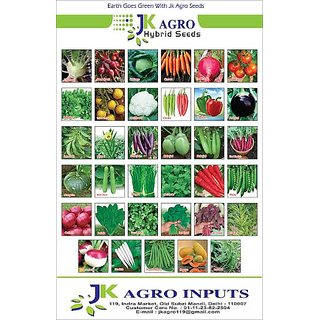 KITCHEN GARDEN PACKETS OF VEGETABLE SEEDS BY J.K. AGRO INPUTS (PACK OF 10)