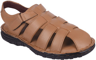 BB LAA Tan 1123 Men's Leather Sandals