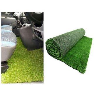 PVC Artificial Grass Car Floor Foot Mats 2x 9 inch (Green) Standard Size for All Cars