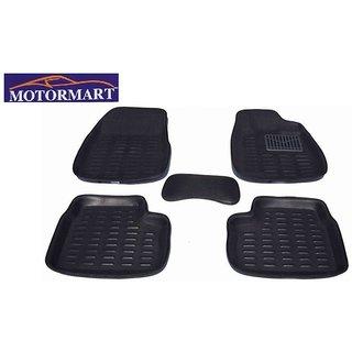 Motormart Plastic Standard Mat For Maruti Suzuki Swift Dzire (Black)