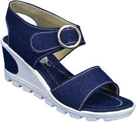 IndiForce Women Blue Sandal Heel