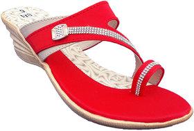 IndiForce Red Women Wedge Heels