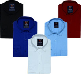 Pack of 5 Spain Style Multicolor Slim Fit Shirts For Men