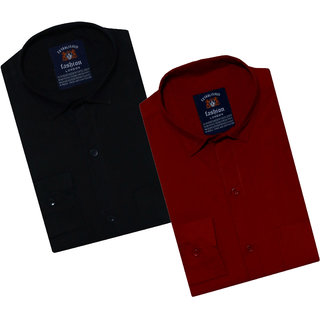 Spain Style Solid Shirts For Men Combo of 2