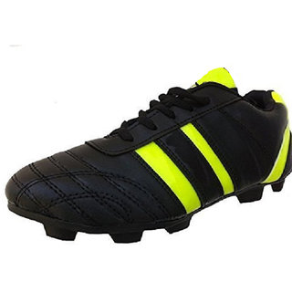 Port Unisex Black Blitz PU Football shoes