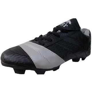 Port Ninja Black Football Stud Shoes for Men