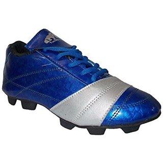 Port Unisex Synthetic PU Nitro Blue Football Shoes