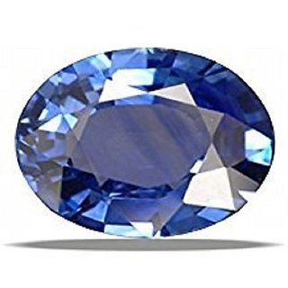 Very Nice Oval Cut Blue Sapphire (Neelam) Original Certified Stone 6.38 Ratti Loose Gemstone by alexa