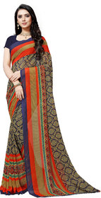 Anand Sarees Blue Color Faux Georgette Saree With Unstitched  Blouse Piece ( 1499 )