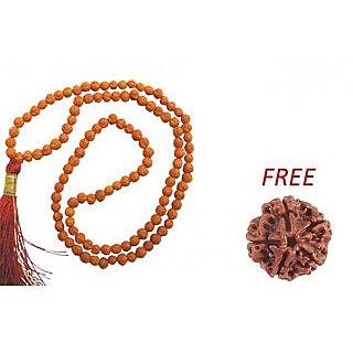 5 Mukhi Rudraksha Mala + 5 Mukhi Rudraksha Free