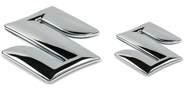 Buy Suzuki Car Logo Monogram Chrome Emblem For A Star Silver Front Rear Logo Online Get 49 Off
